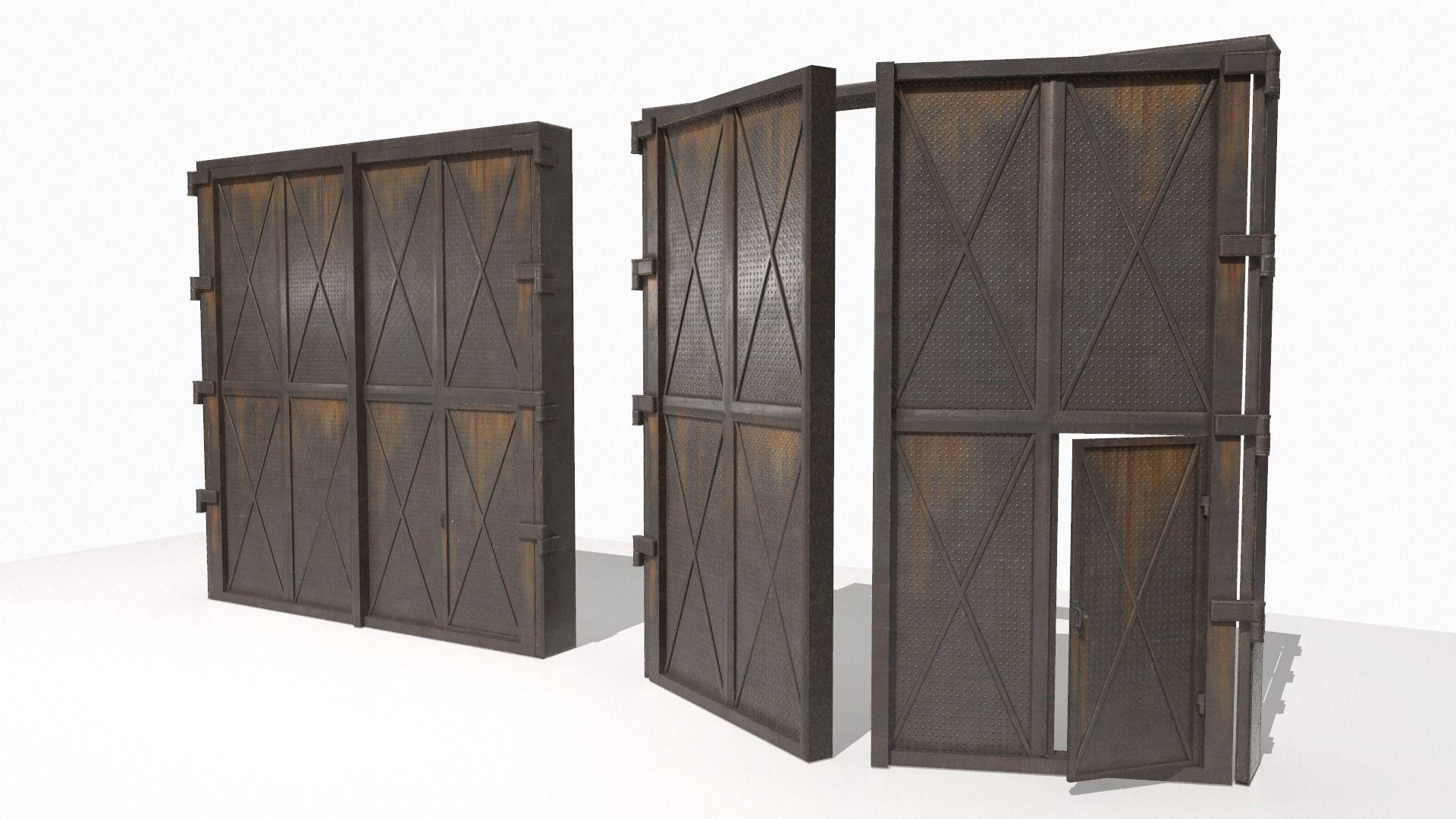 Industrial metal gate 3