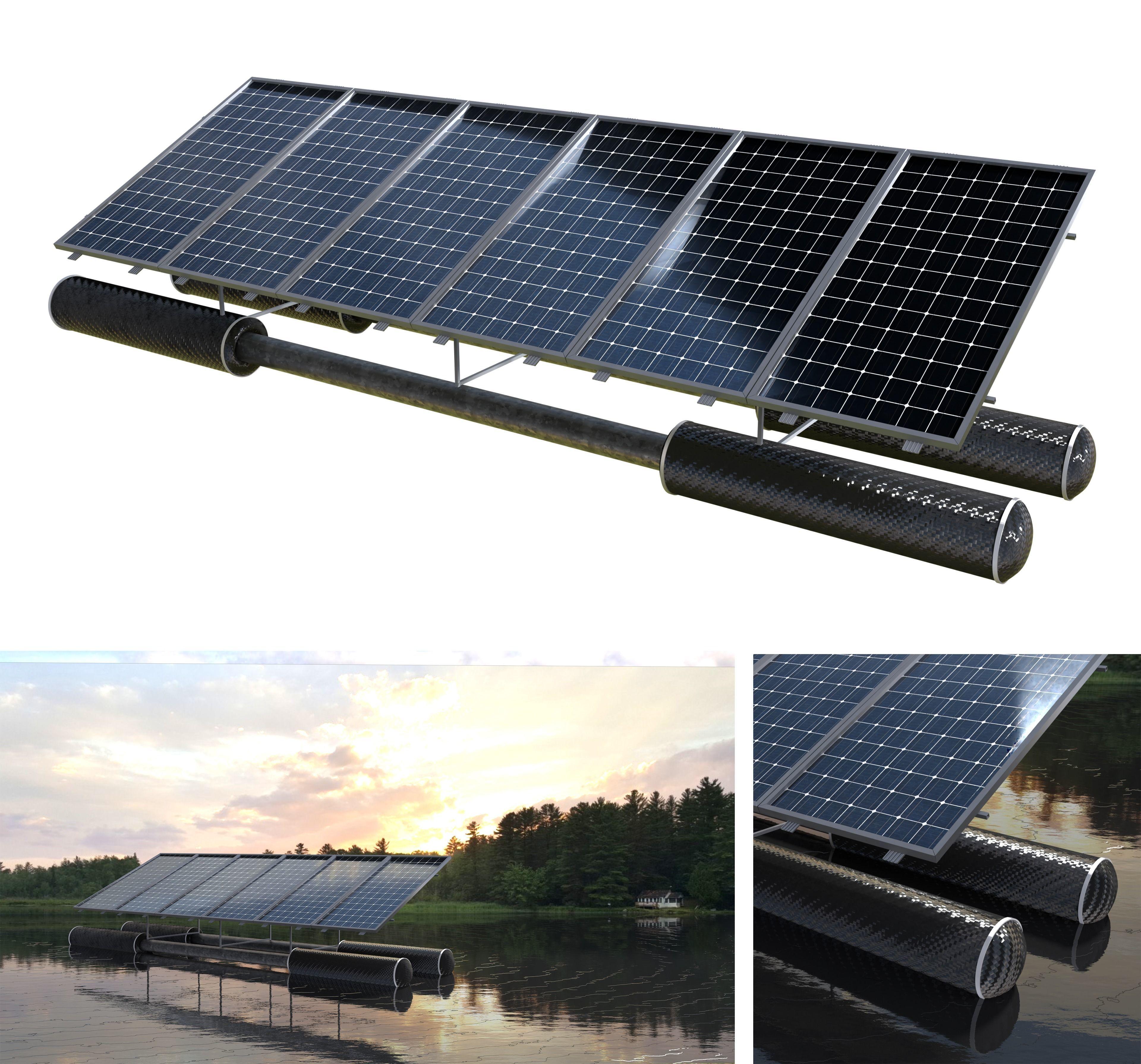 floating pv solar panel array
