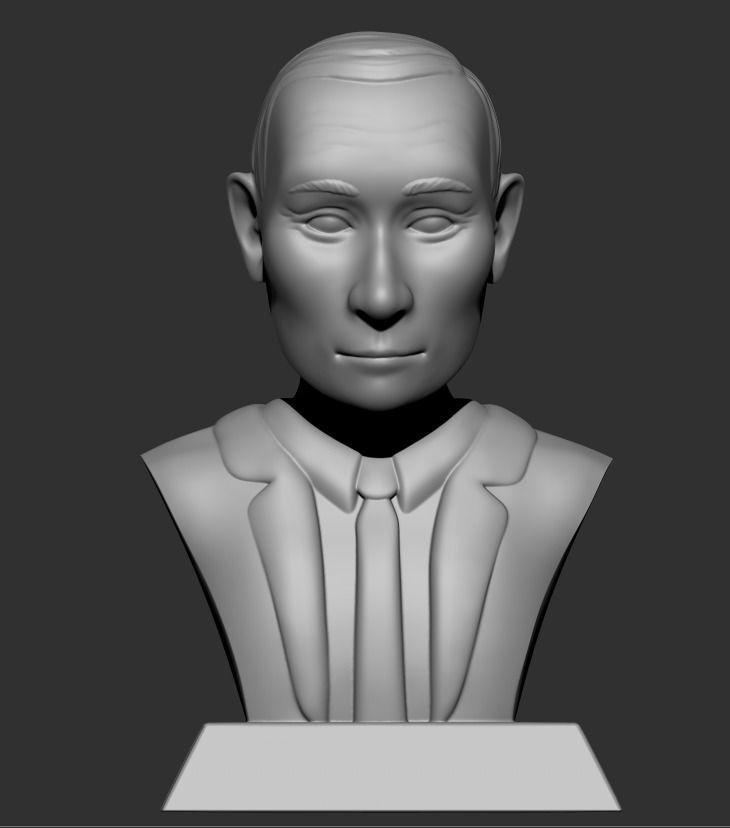 Vladimir Putin bust caricature