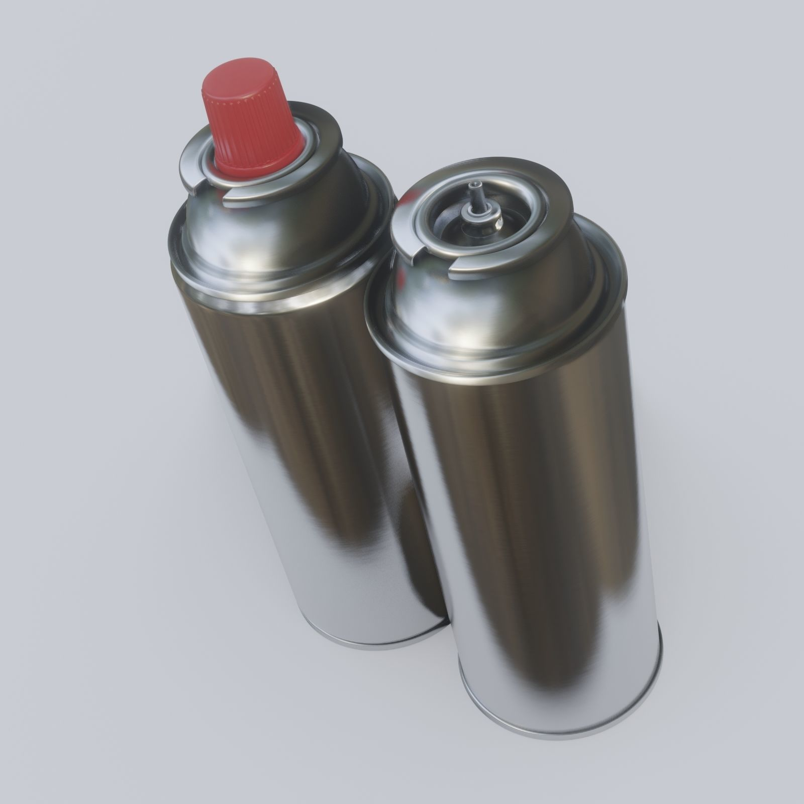 Butane Fuel Gas Canisters for Portable Camping 3D model