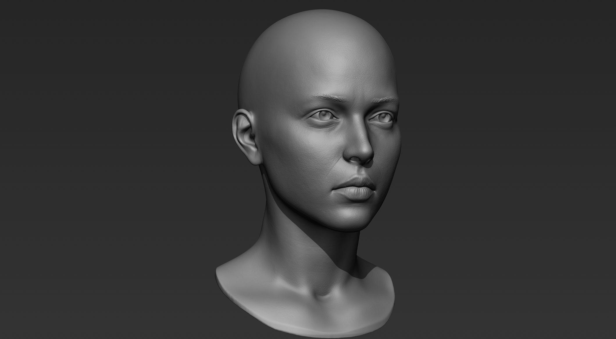 3D Printable Female Head 9