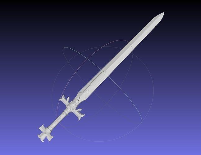 Sword Art Online Alicization Alice Sword Printable Assembly