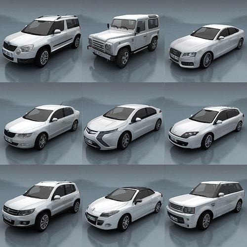 EV Parking & Car 3d model - CGStudio