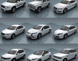 10 - city cars models e 3d model low-poly max