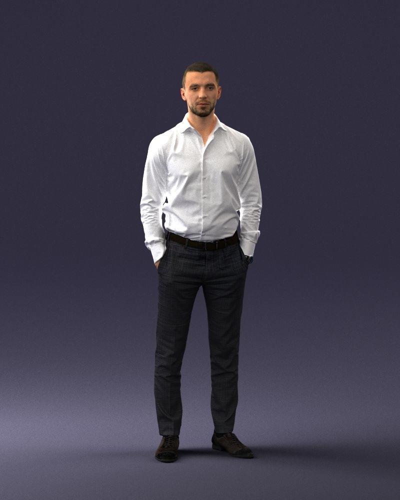 Office man 0116 3D Print Ready