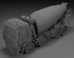 scania cement truck 3d