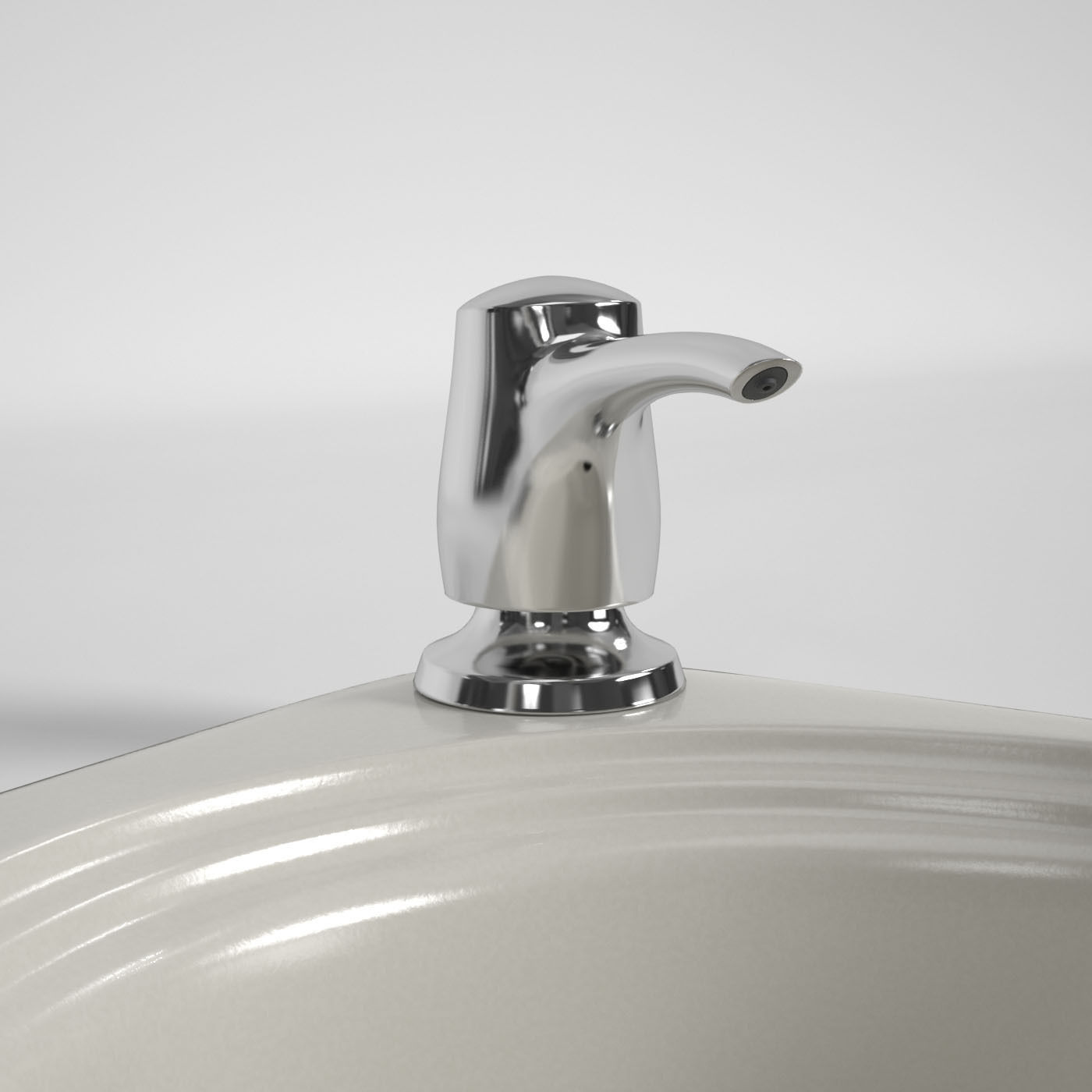 Kitchen Faucet And Sink Kohler 3d Model Max Mat Cgtrader Com