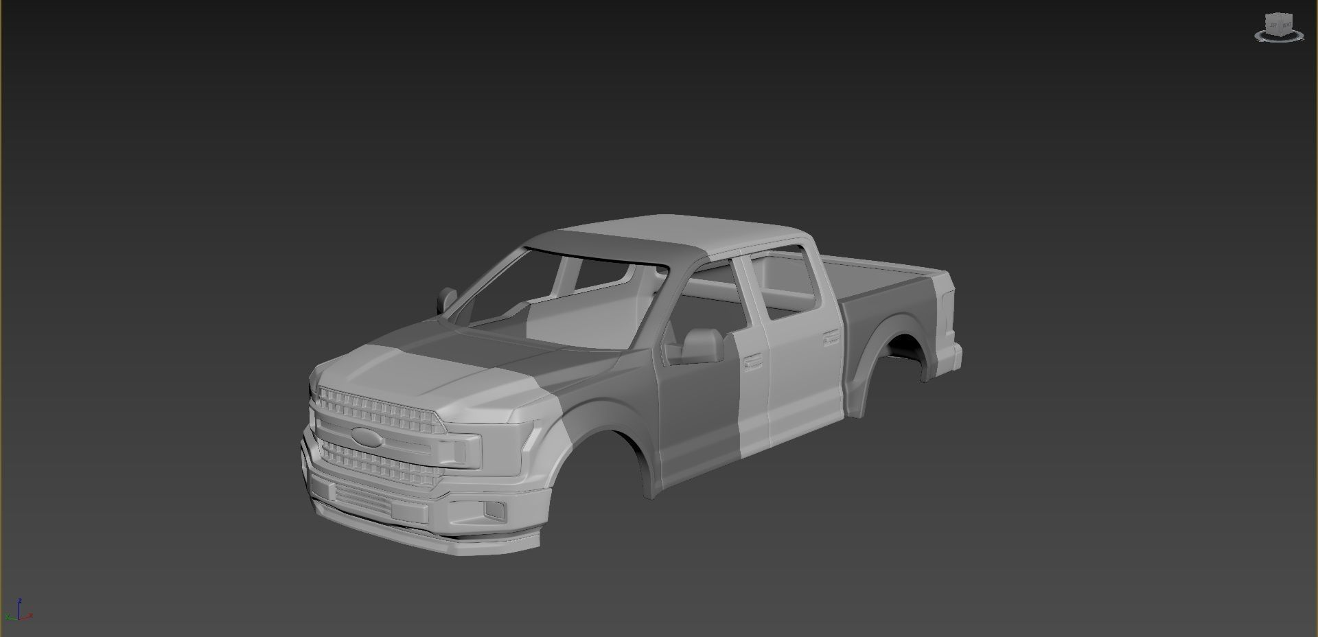 Ford F-150 2020 in  1 10  Scale for print