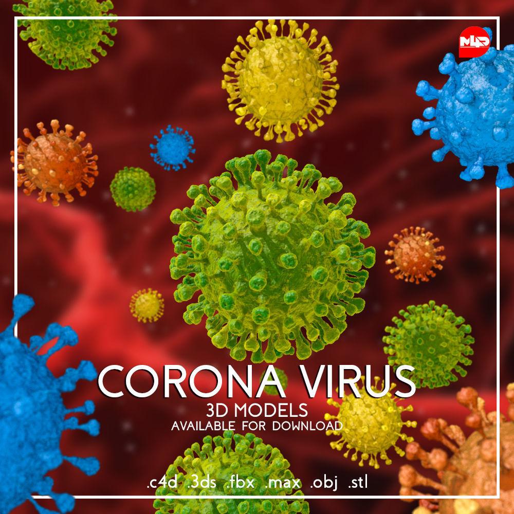 Corona Virus 3D Model