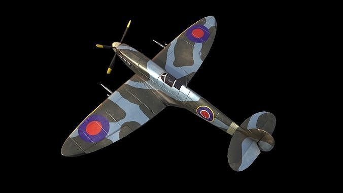 Supermarine Spitfire aircraft airplane fighter