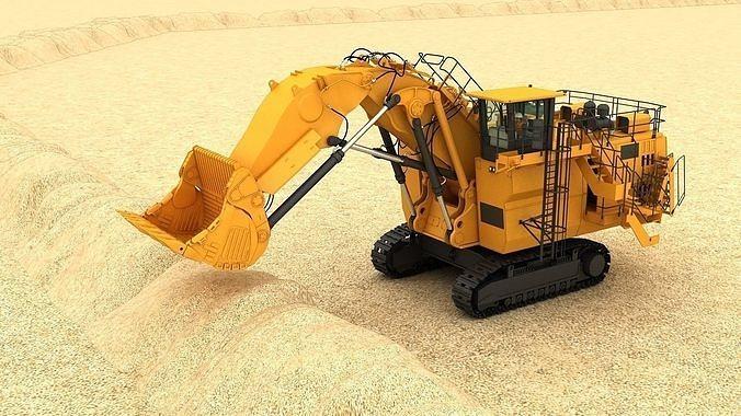 Mining Excavator  6060 3D model Rigging