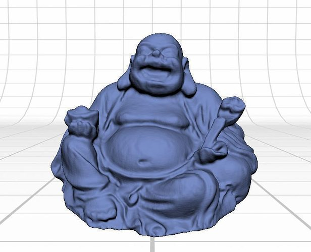 laughing buddha figurine 3d model stl 1