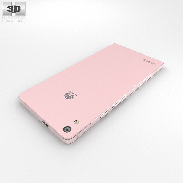 huawei phone p6. huawei ascend p6 pink 3d model max obj 3ds fbx c4d lwo lw lws 10 phone p