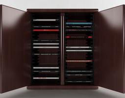 40 Disc CD Cabinet 3D Model