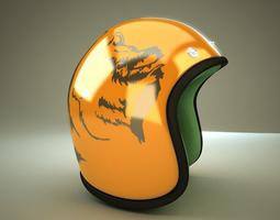 helmet rigged 3d