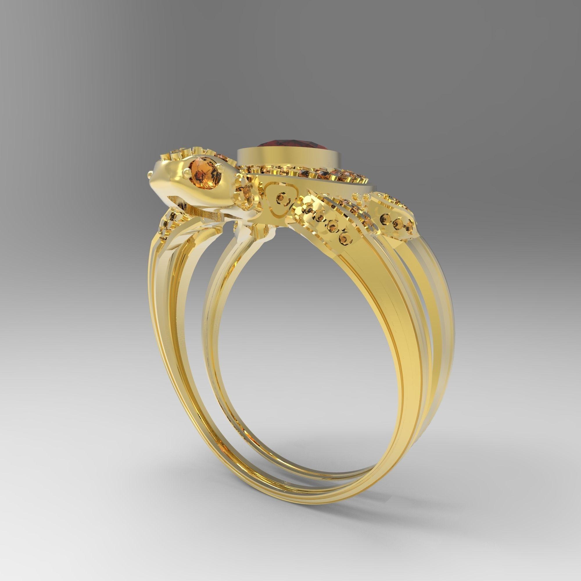 Turtle Ring Model Stl 5