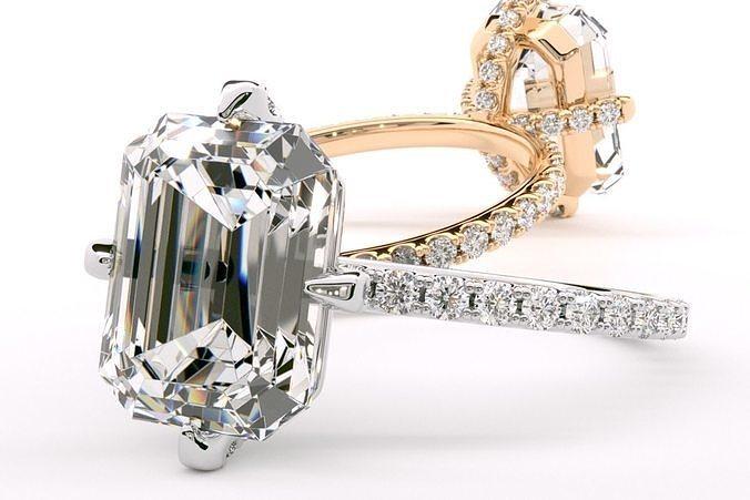 The Sutton Ring Emerald cut 10x8 mm