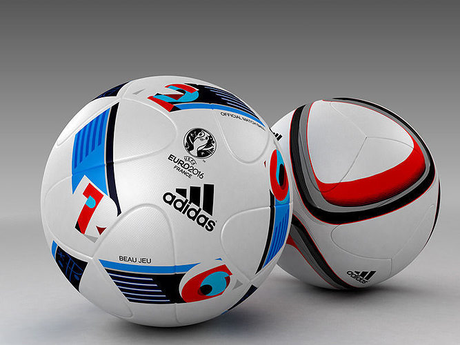 9c9ae8ed26 3d Model set of Official Adidas Beau Jeu and Qualification balls 3D model