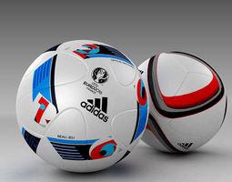3d Model set of Official Adidas Beau Jeu and Qualification balls 3D Model