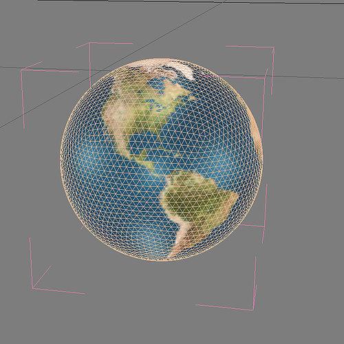 Planet Earth 3D Model MAX