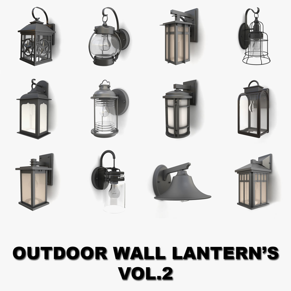 Outdoor wall lanterns collection 2