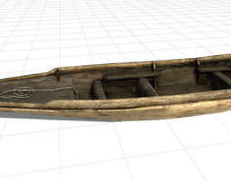 3d asset PBR VR / AR ready old boat