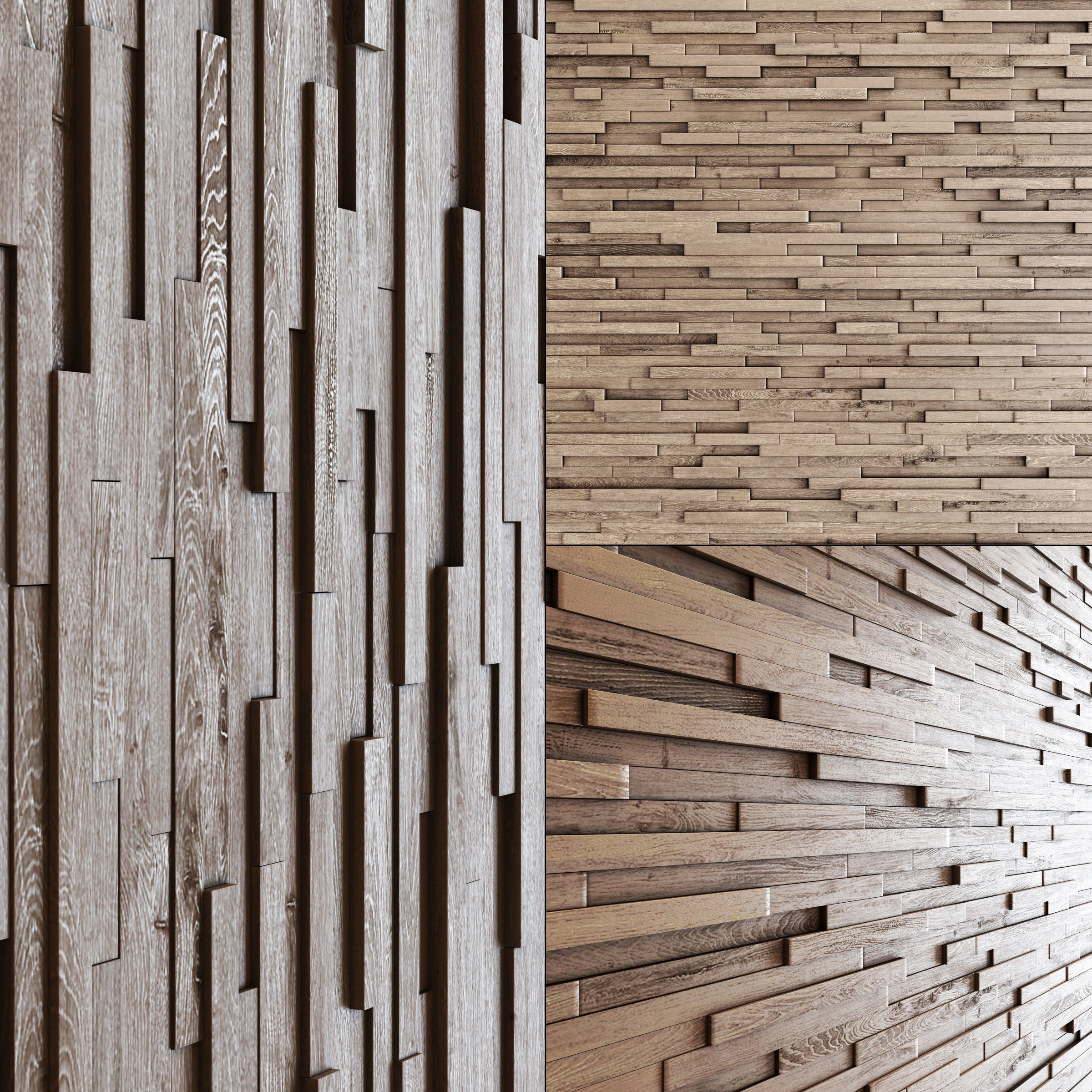 Wall wood long rail n1