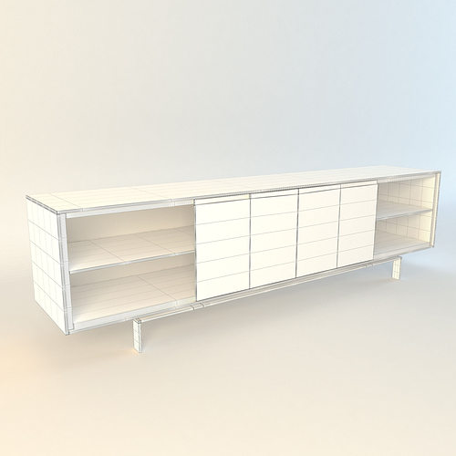 Poliform axia sideboard 3d model max obj fbx for Sideboard 3d