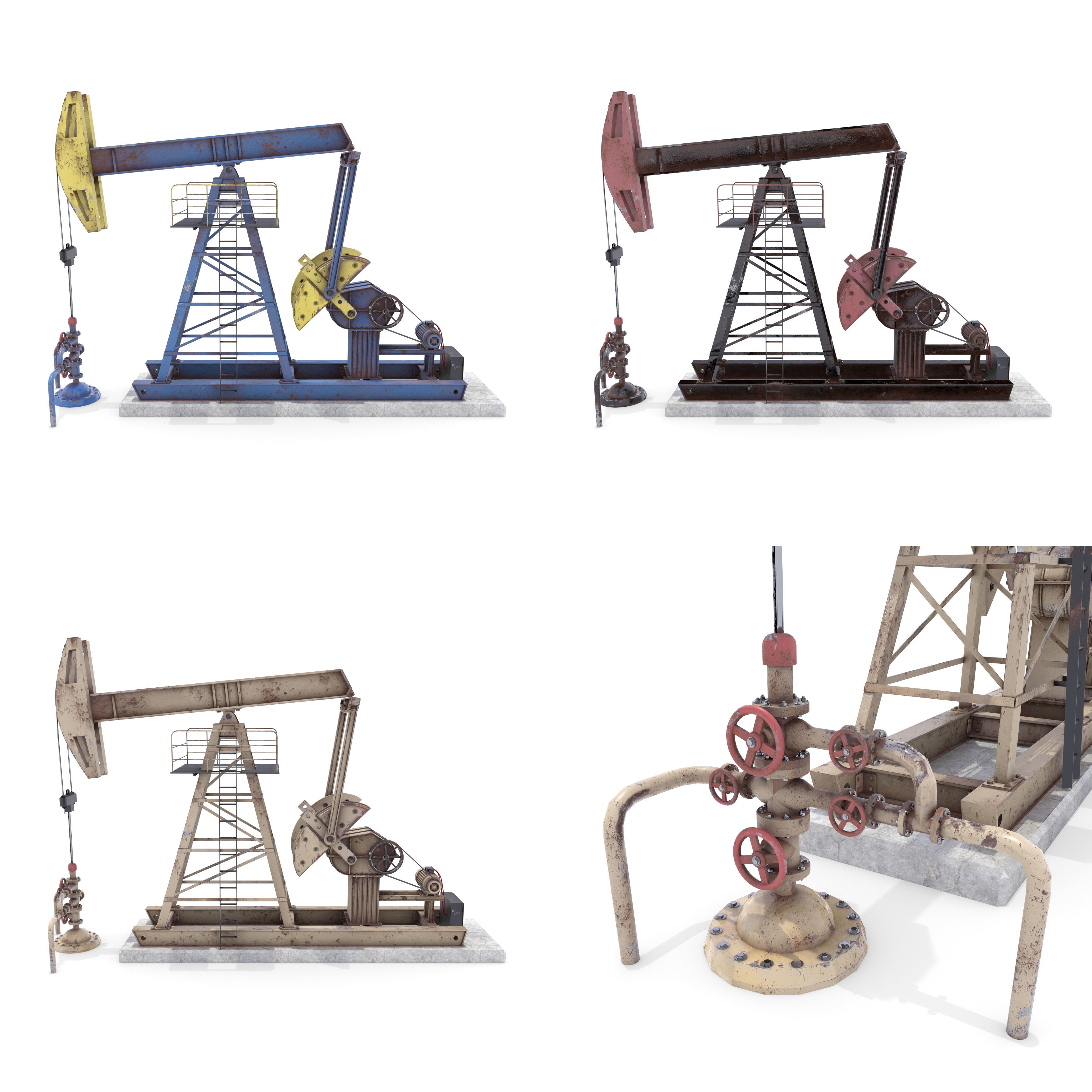 Oil Pumpjack Weathered Pack