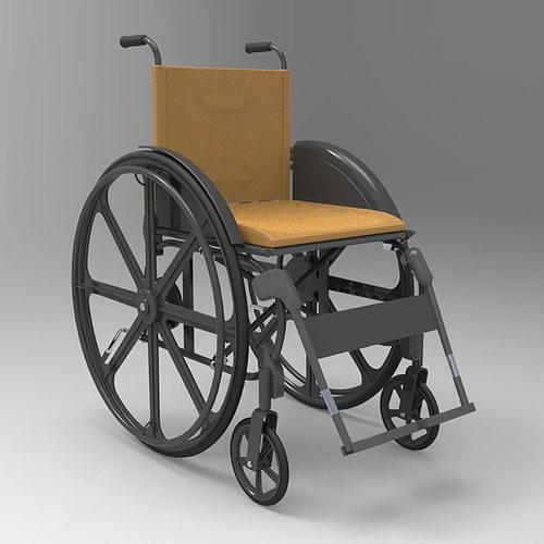wheelchair 3d model obj mtl pdf 1