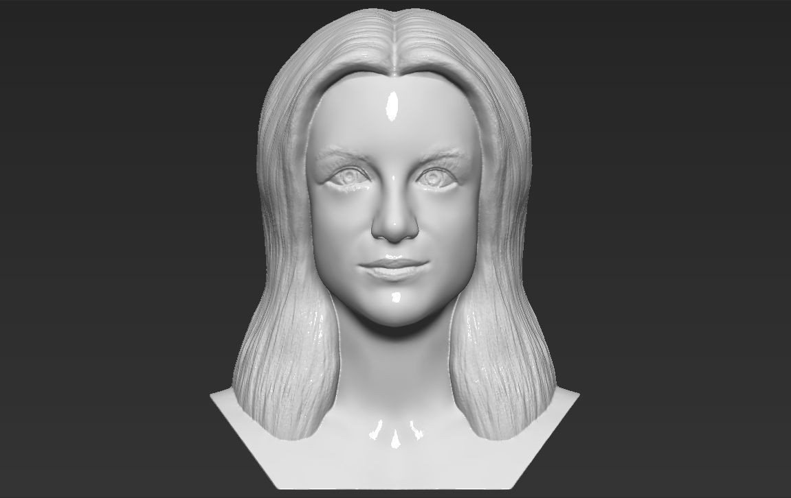 Britney Spears bust 3D printing ready stl obj formats