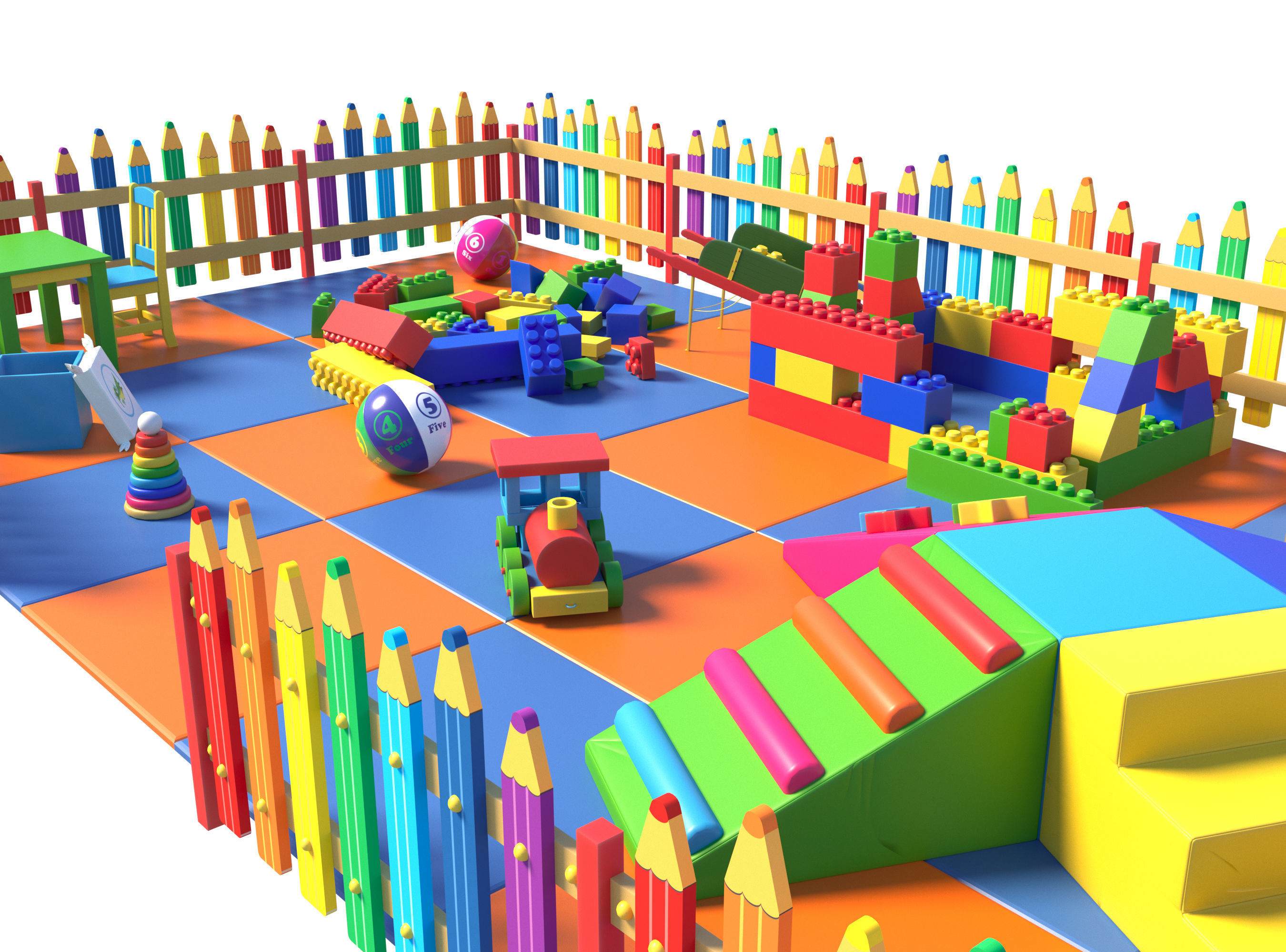 Childrens play area 2  3D model