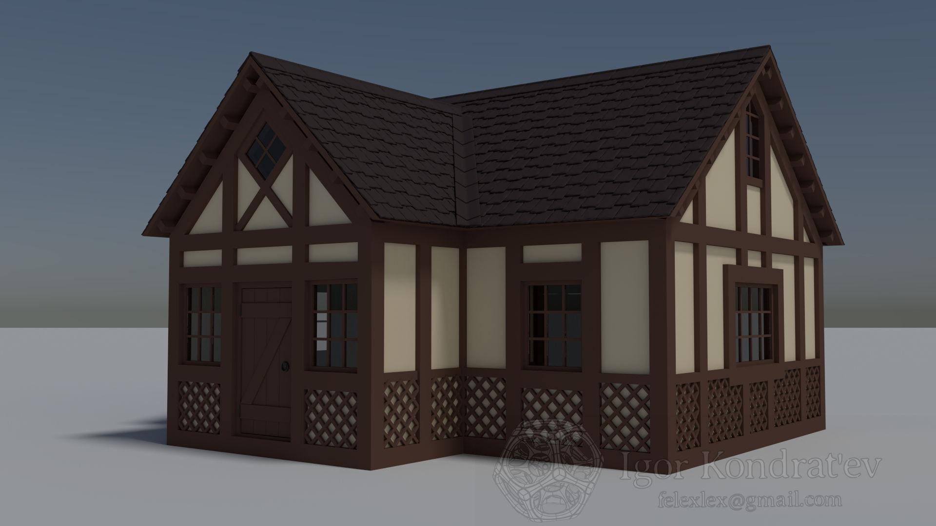 Hunting House 3d Model Obj Blend Dae Mtl 1