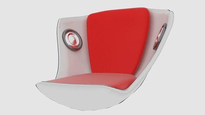 speaker seat 3d model low-poly obj mtl 3ds fbx blend dae 1