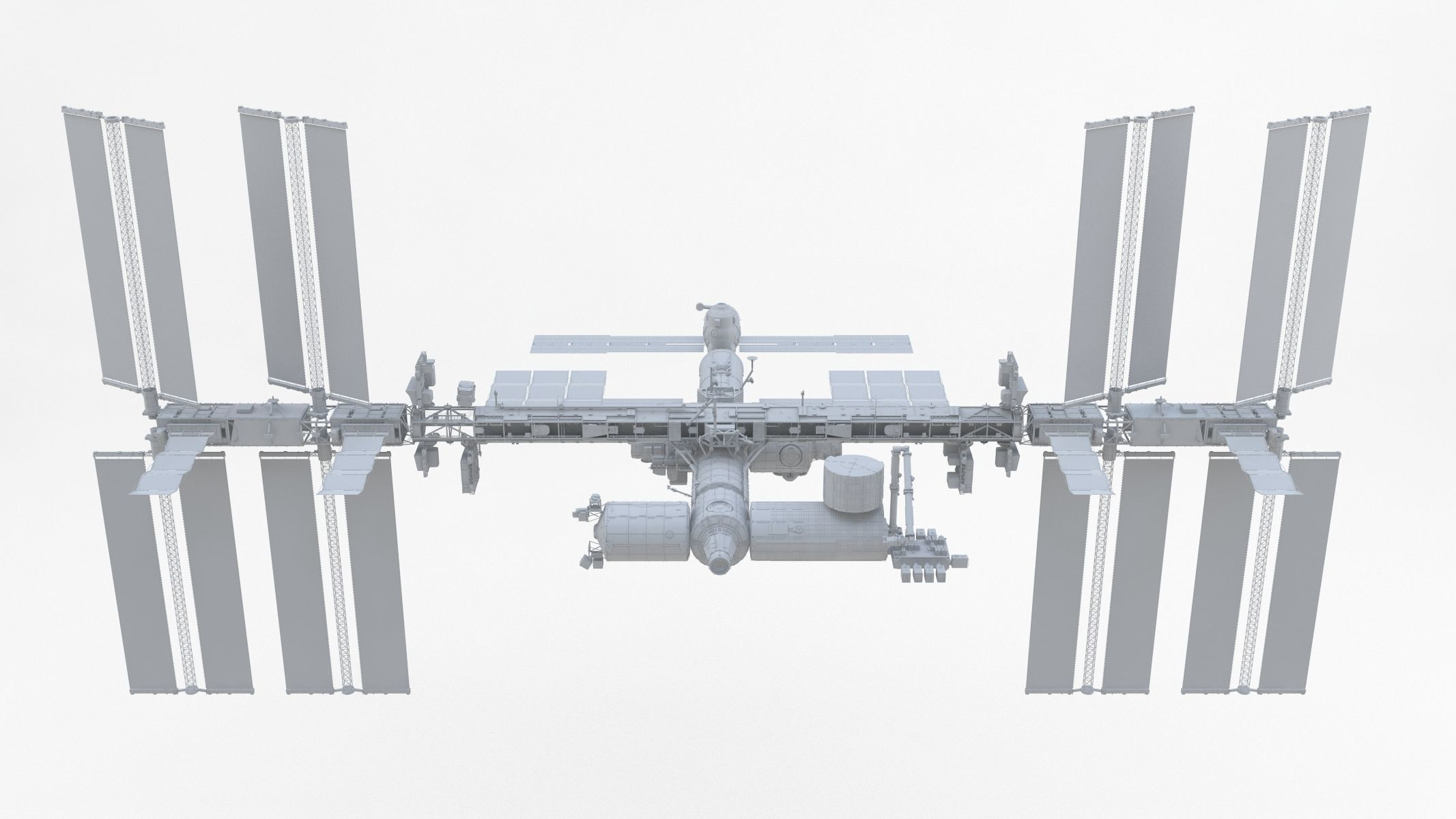 ISS International Space Station no Texture