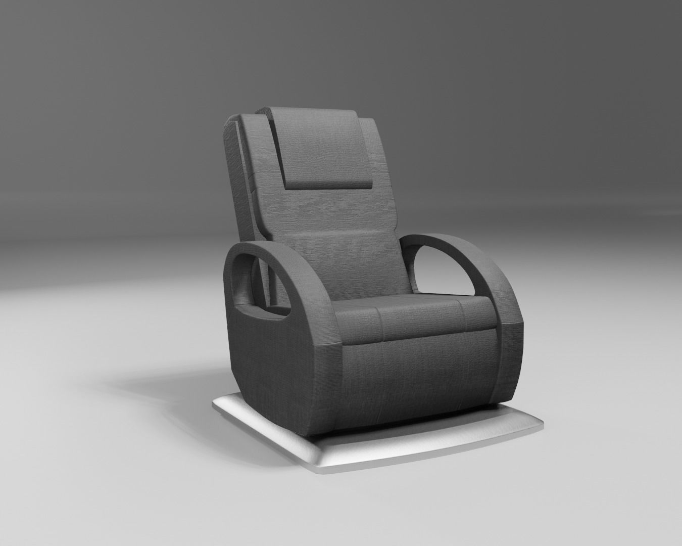 massage wellness chair modern black fabric