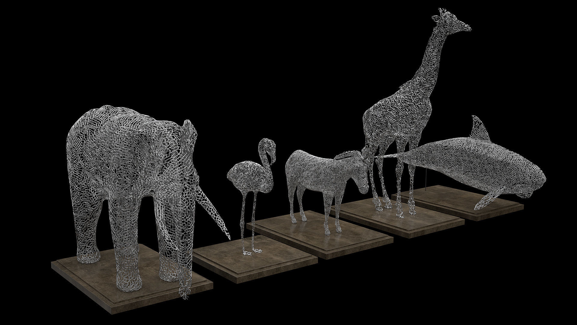 Animals Wire Statues