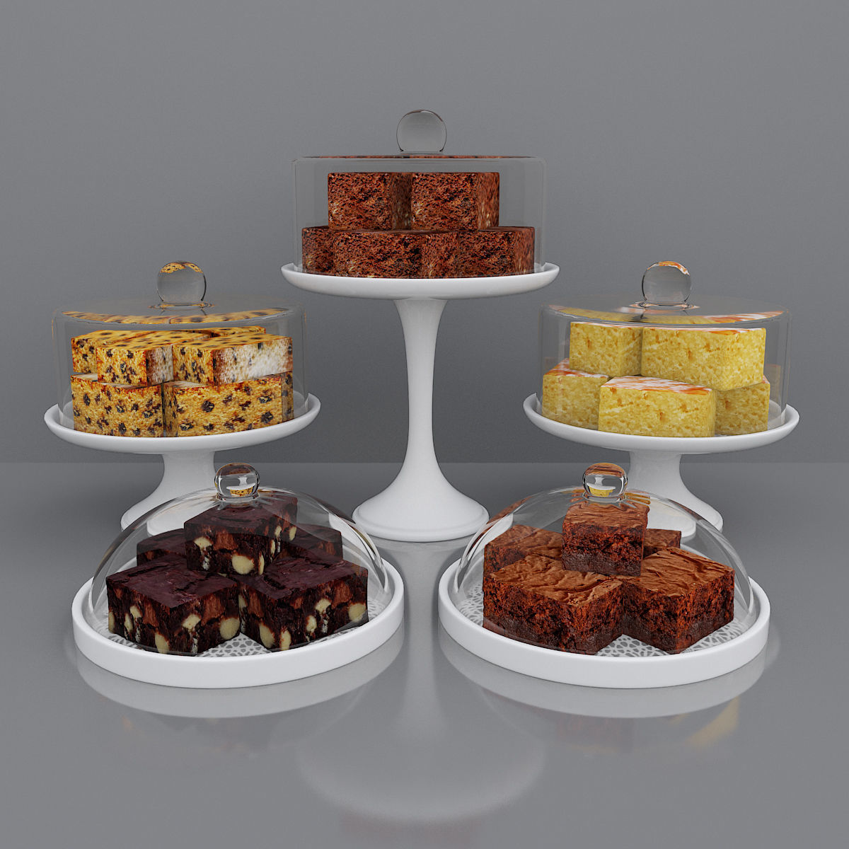 Brownies and cake bars