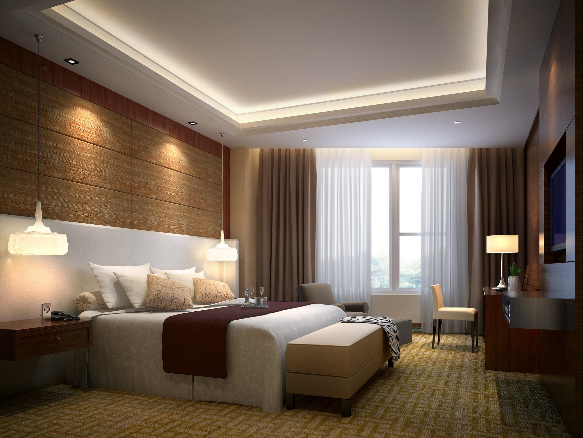 Bedroom 3D Design hotel bedroom 3d model couch | cgtrader
