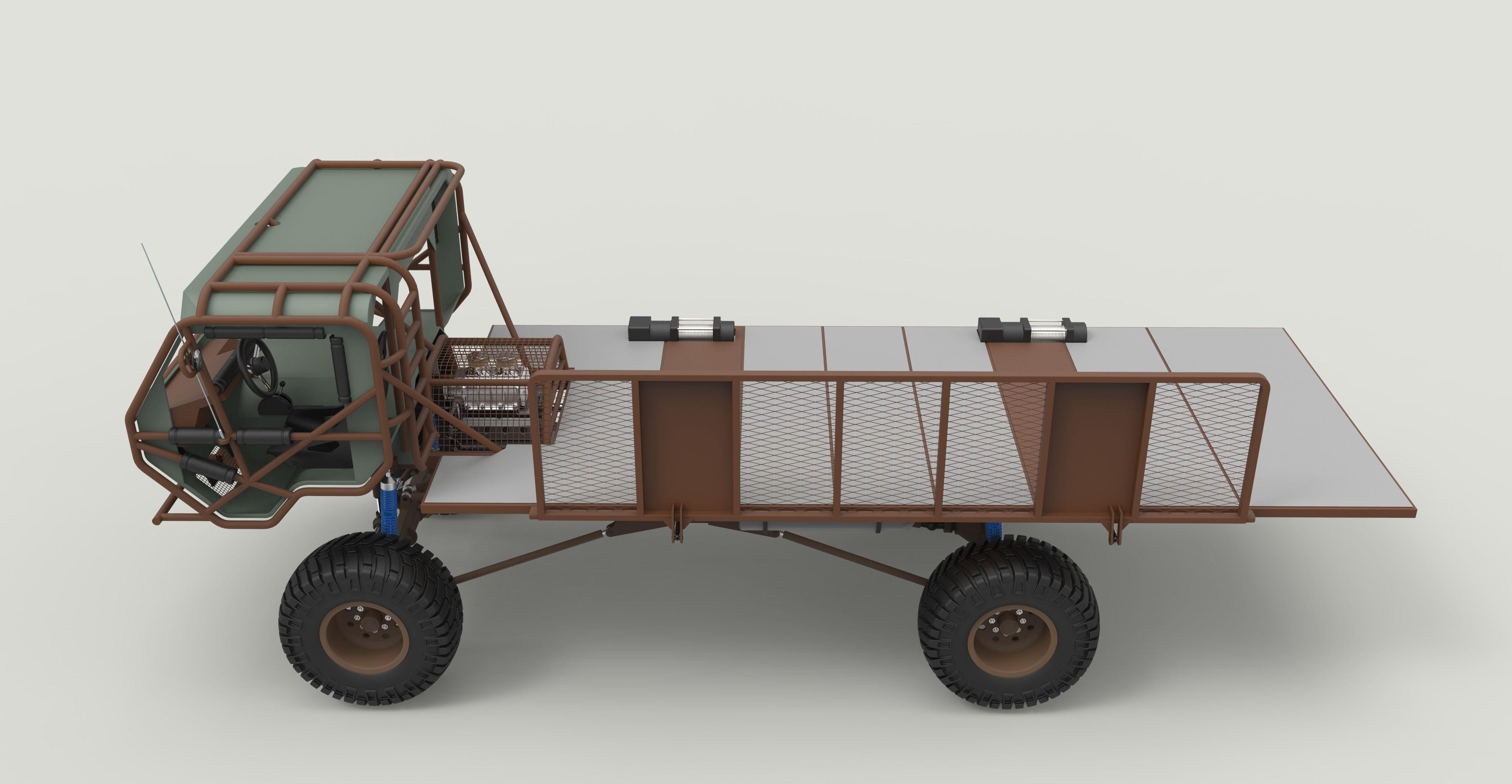 Mongo Heist Truck 3d Model Obj Stl Sldprt Sldasm Slddrw