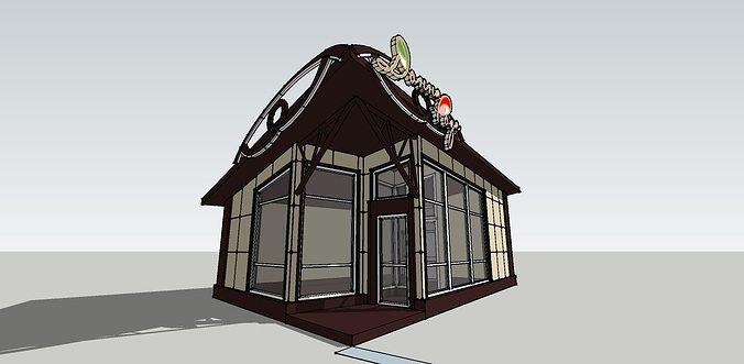 floral pavilion 3d model skp 1