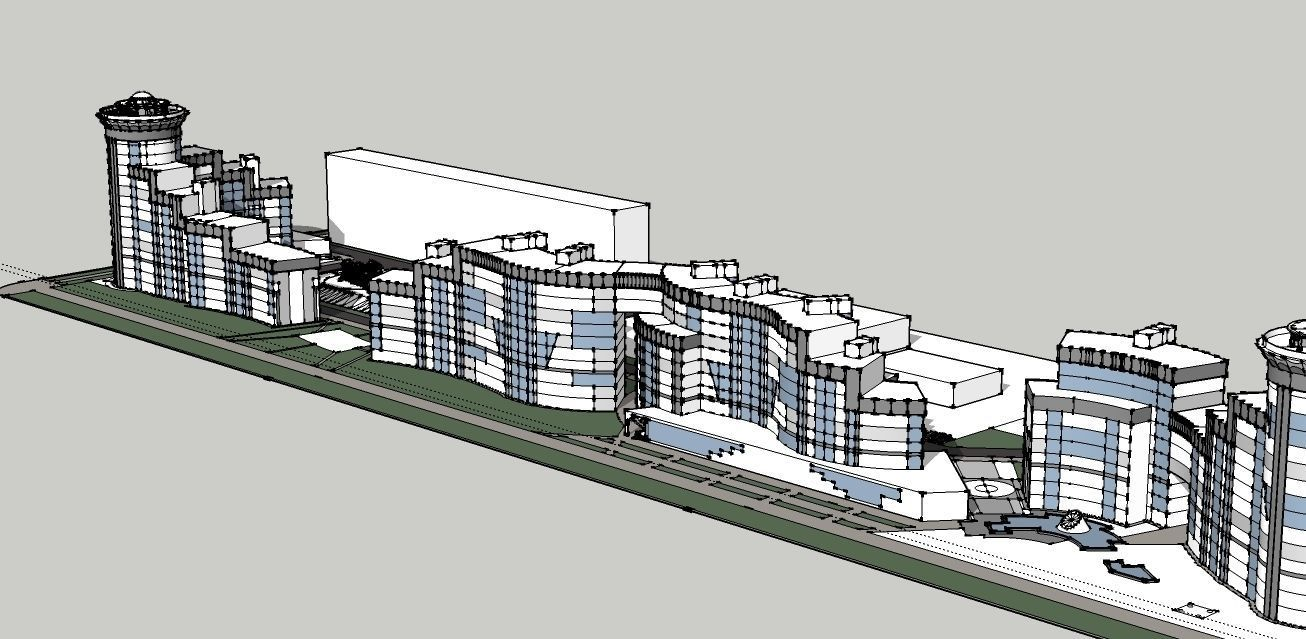 Residential Complex 3d Model Skp 5