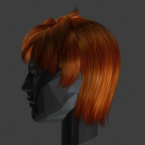 3D model male hairstyle 01 0017 VR / AR / low-poly MAX OBJ FBX MA MB ...
