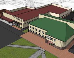 3D sketchup shopping center