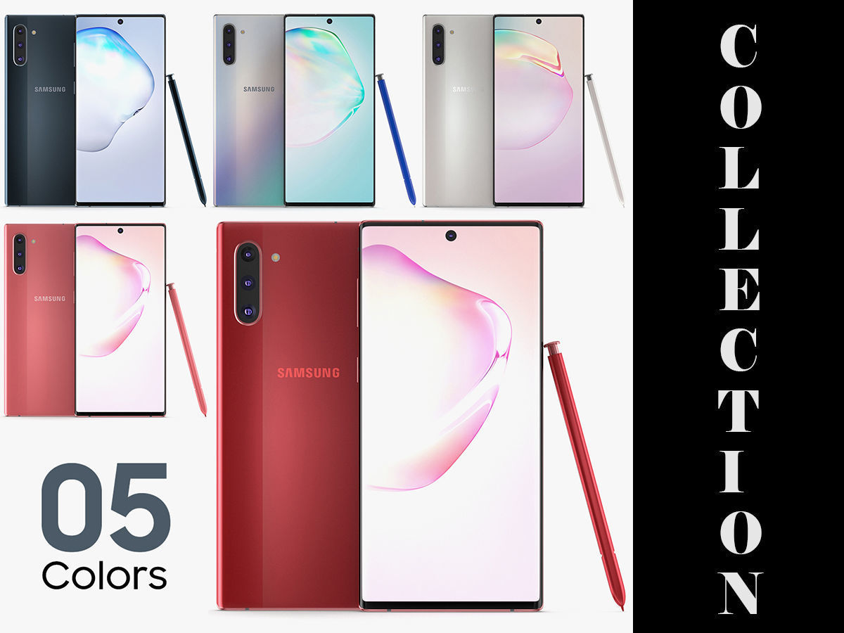 Samsung Galaxy Note 10 All Colors