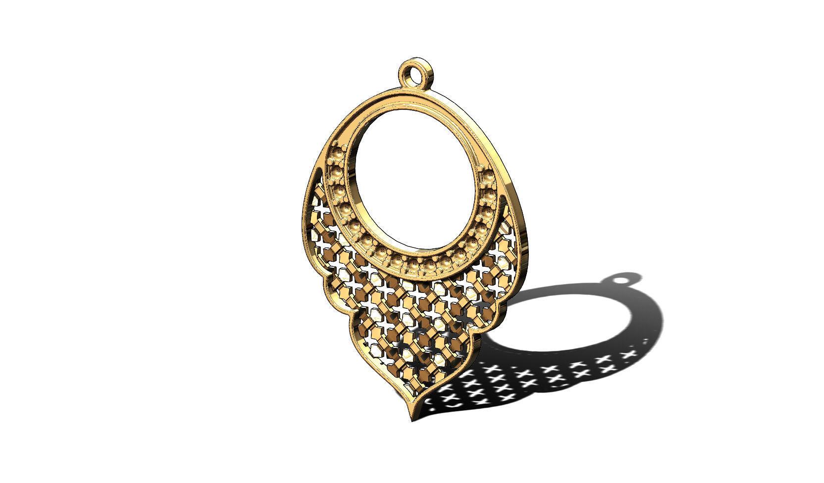 Arabic moucharabieh earrings and pendants