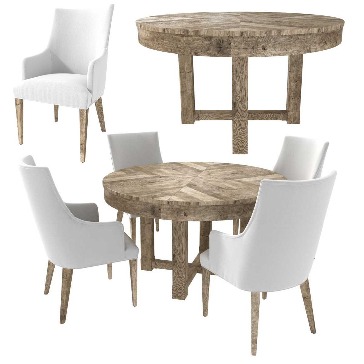 Restoration Hardware ELLA ARMCHAIR and CAYDEN  DINING TABLE