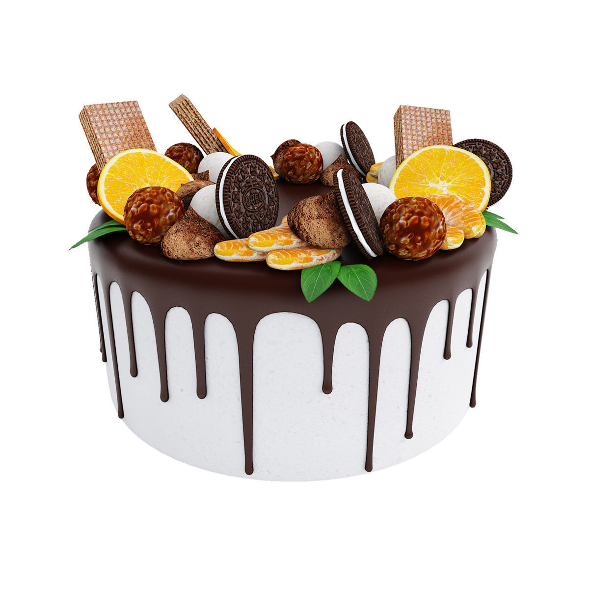 Cake with oreo cookies