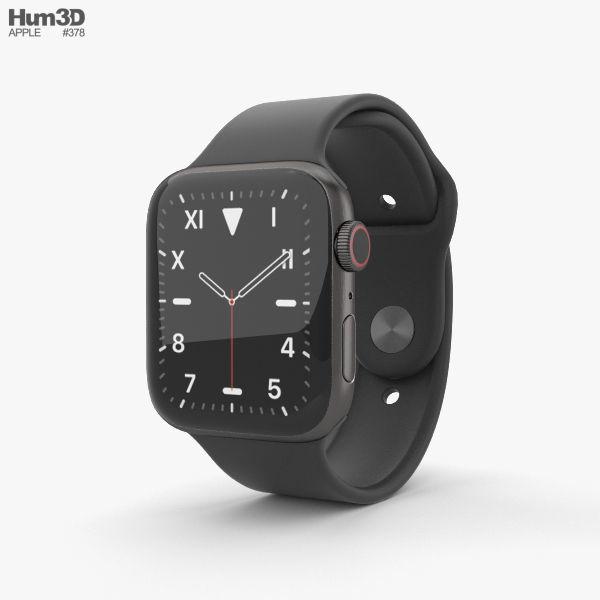Apple Watch Series 5 44mm Space Black Titanium Case with SB