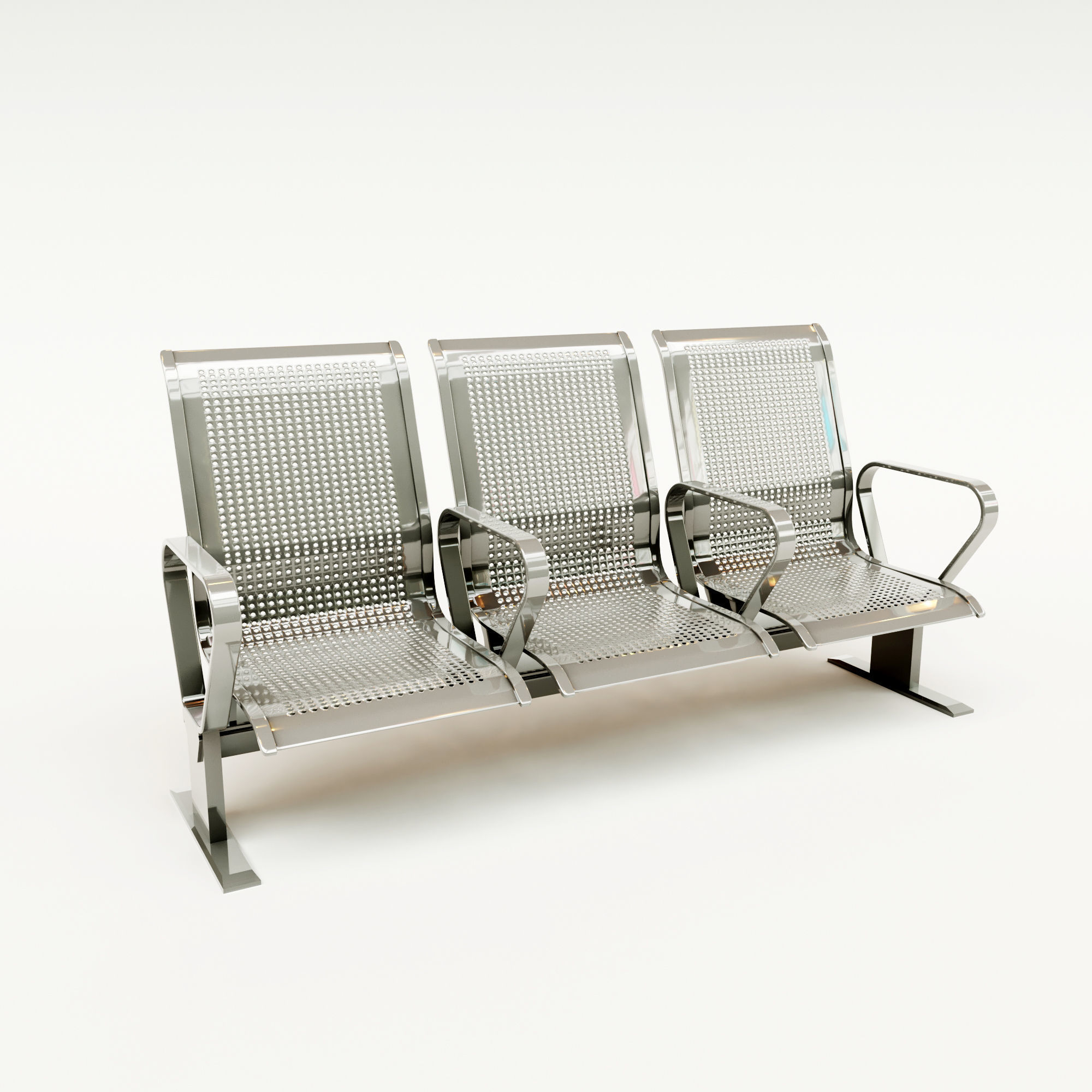 Bench for public seating